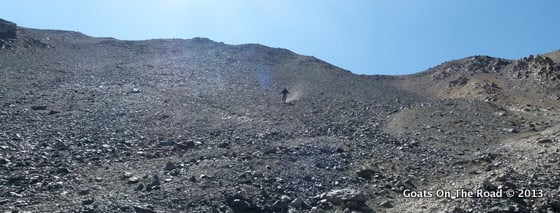 Dariece Bravely Skiing Down The Other Side Of The Pass (It's MUCH Steeper Than It Looks)