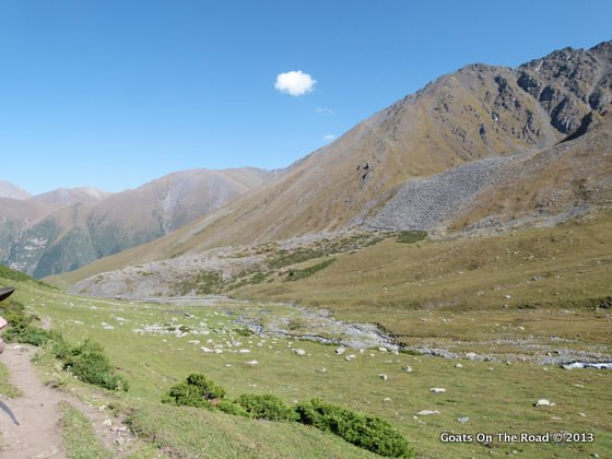 The Beautiful Valley On The Other Side Of The Ala-Kol Pass