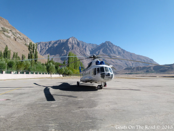 Helicopter Pamir Mountains
