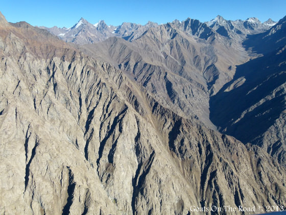 Views From The Helicopter Over The Pamir Mountains